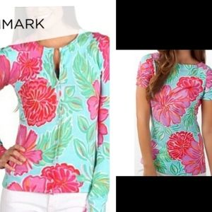 2 PC Lilly Pulitzer Blue Berlina Sweater & Top XS